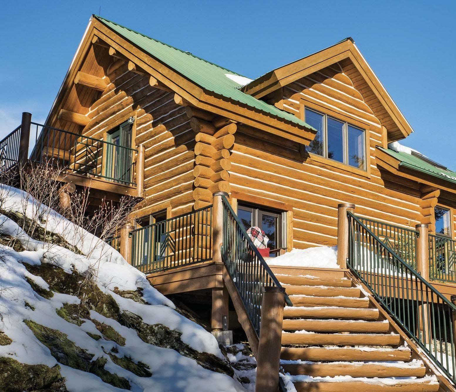 Log home living for Log home magazines