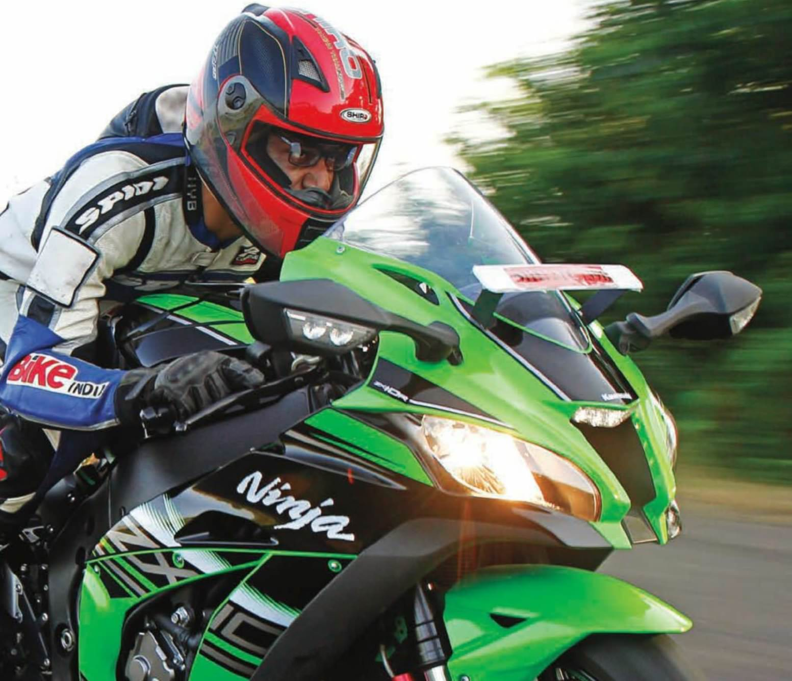 Motorcycle Kawasaki Ninja Zx 10R Speed Track Hd Wallpaper
